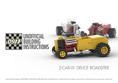 0937 UNOFFICIAL BUILDING INSTRUCTIONS, Z-CAR-01 DEUCE ROADSTER