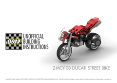 0937 UNOFFICIAL BUILDING INSTRUCTIONS, Z-MCY-08 DUCATI STREET BIKE