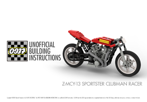 0937 UNOFFICIAL BUILDING INSTRUCTIONS, Z-MCY-13 SPORTSTER CLUBMAN RACER