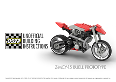 0937 UNOFFICIAL BUILDING INSTRUCTIONS, Z-MCY-15 BUELL PROTOTYPE